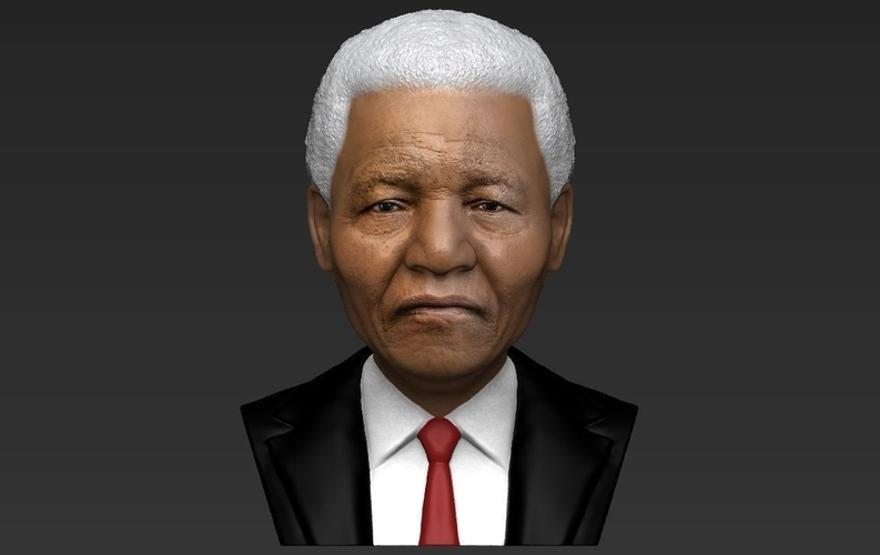 Nelson Mandela bust ready for full color 3D printing 3D Print 232051