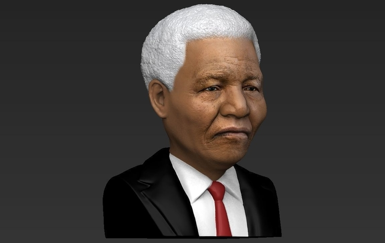 Nelson Mandela bust ready for full color 3D printing 3D Print 232052
