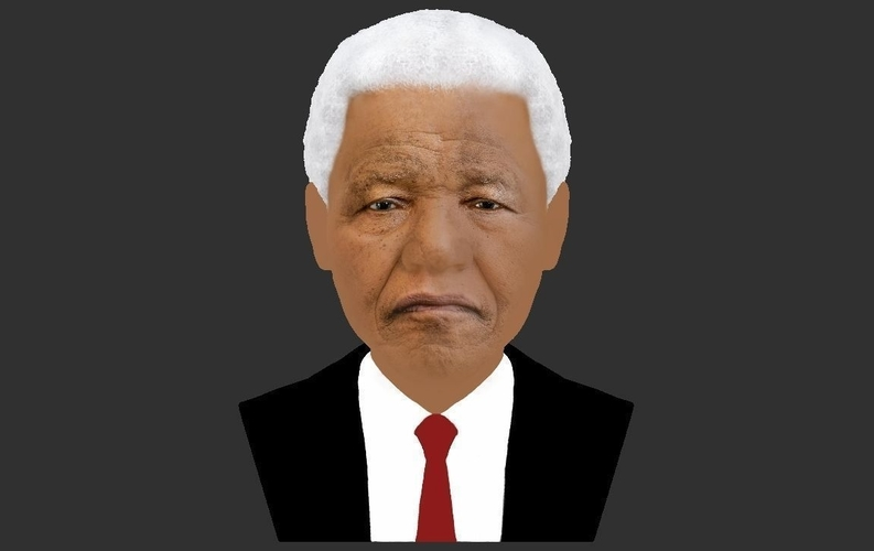 Nelson Mandela bust ready for full color 3D printing 3D Print 232053