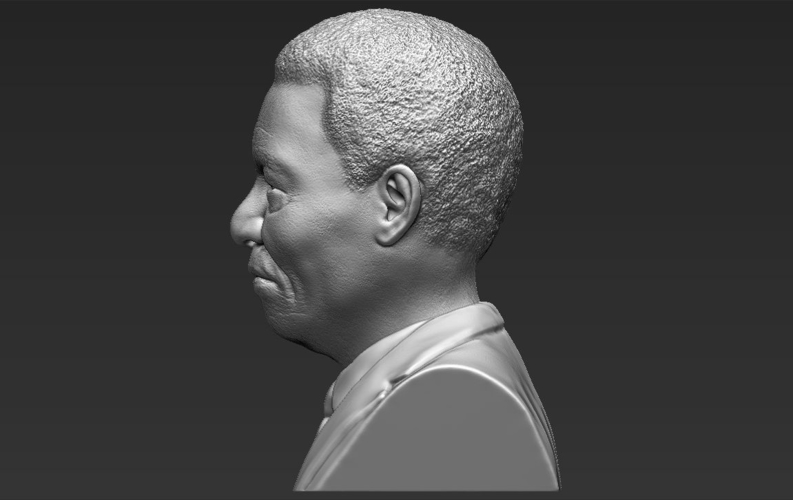 Nelson Mandela bust ready for full color 3D printing 3D Print 232057