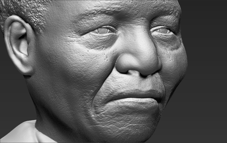 Nelson Mandela bust ready for full color 3D printing 3D Print 232061