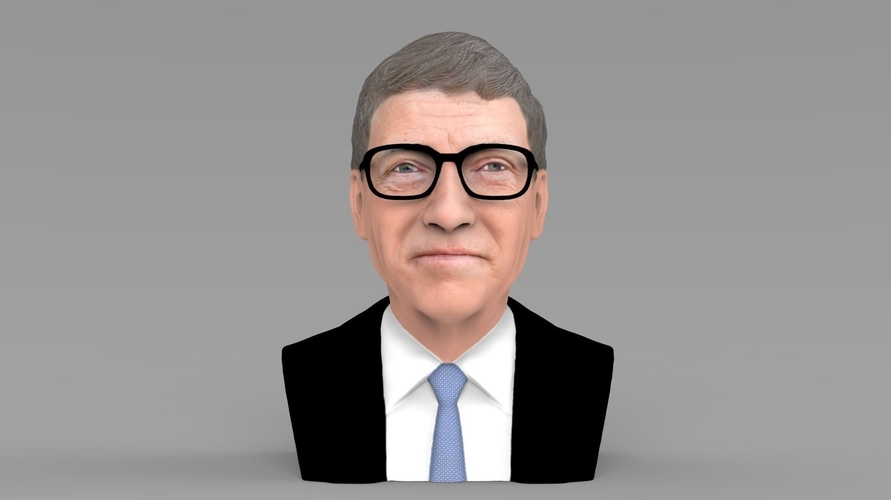Bill Gates bust ready for full color 3D printing 3D Print 232085