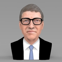 Small Bill Gates bust ready for full color 3D printing 3D Printing 232085