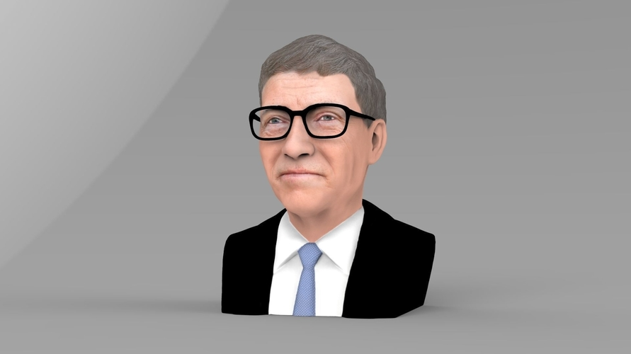 Bill Gates bust ready for full color 3D printing 3D Print 232086