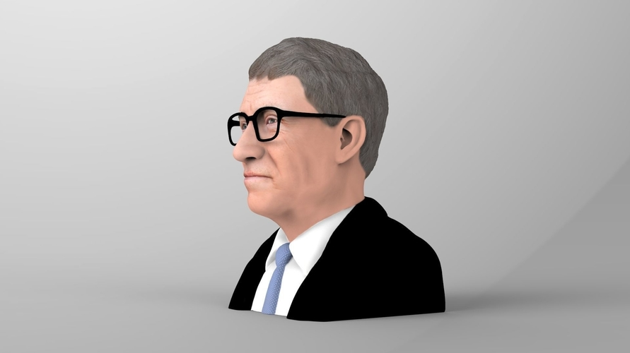Bill Gates bust ready for full color 3D printing 3D Print 232087