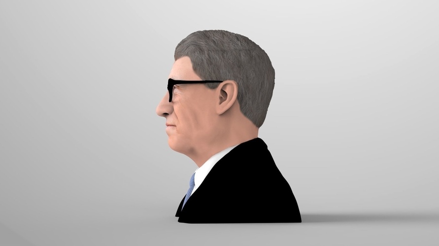 Bill Gates bust ready for full color 3D printing 3D Print 232088