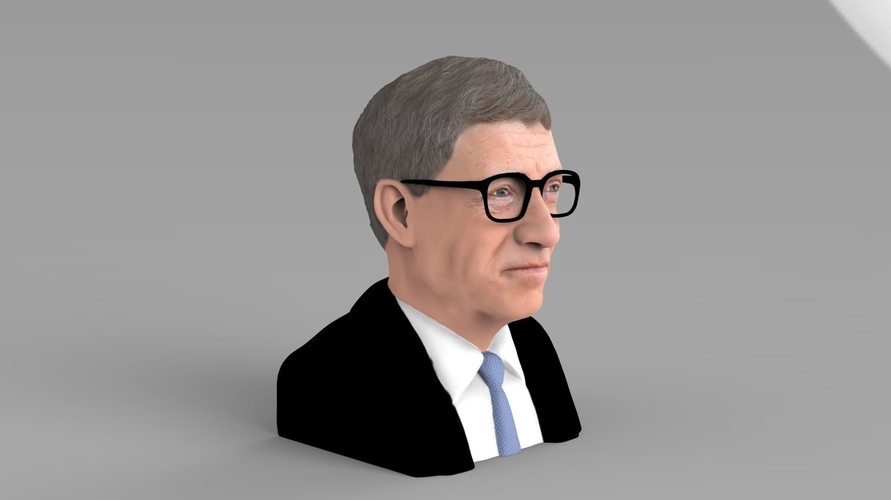 Bill Gates bust ready for full color 3D printing 3D Print 232089
