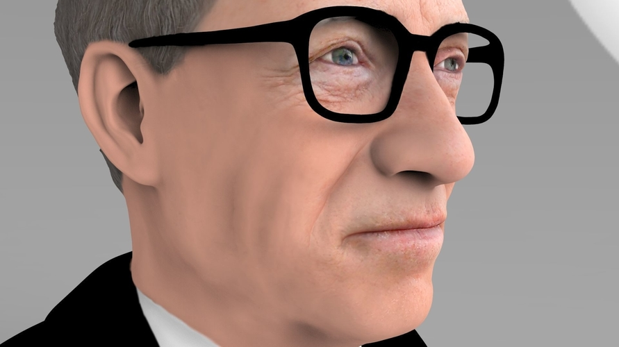 Bill Gates bust ready for full color 3D printing 3D Print 232092
