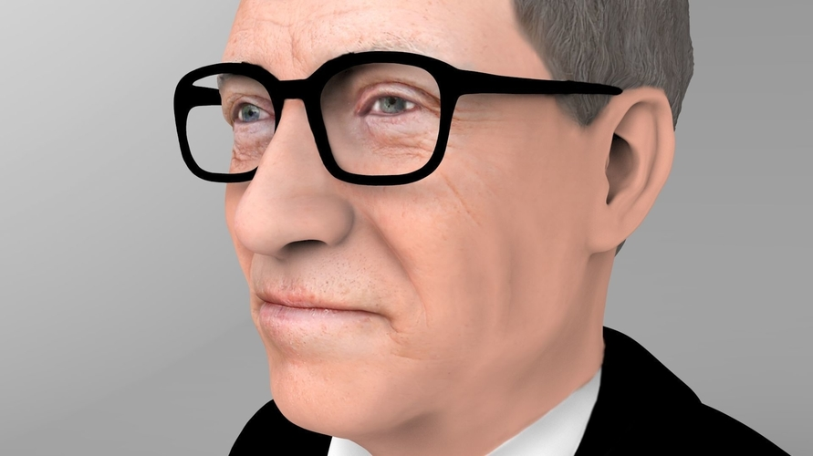 Bill Gates bust ready for full color 3D printing 3D Print 232093