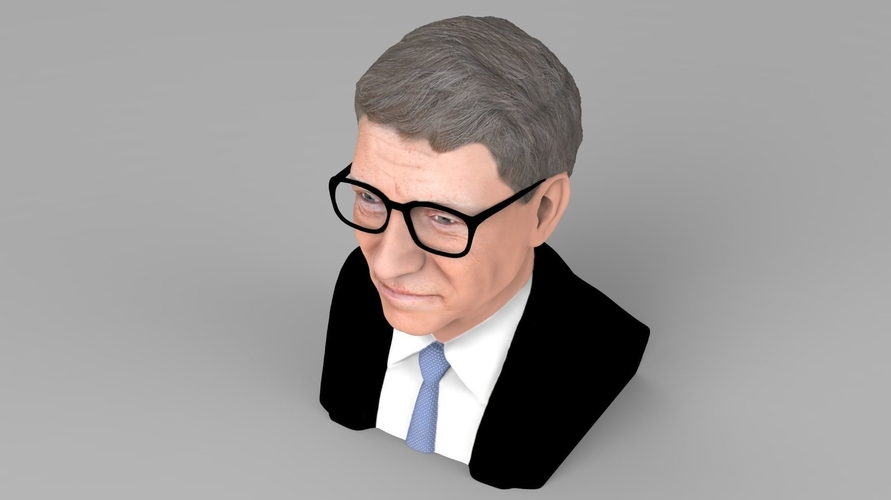 Bill Gates bust ready for full color 3D printing 3D Print 232094