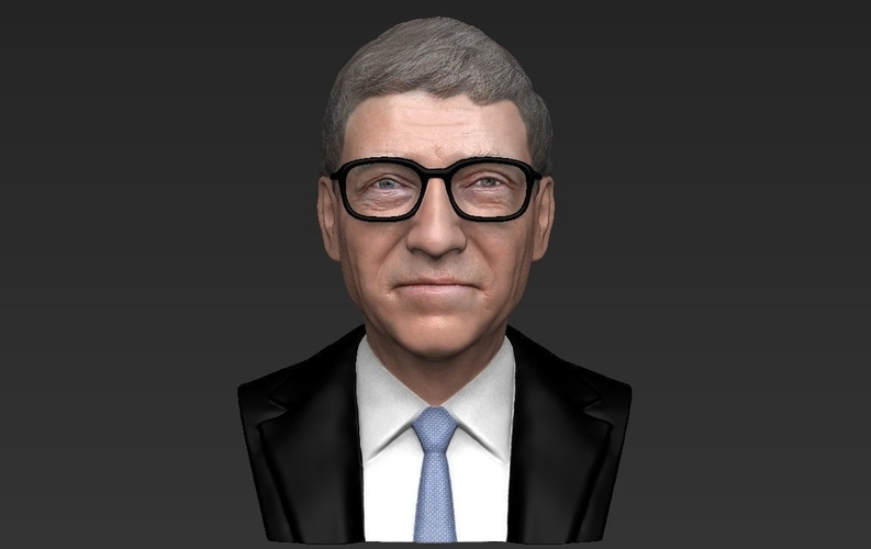 Bill Gates bust ready for full color 3D printing 3D Print 232095