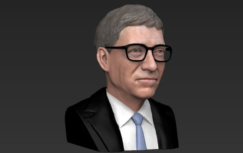 Bill Gates bust ready for full color 3D printing 3D Print 232096