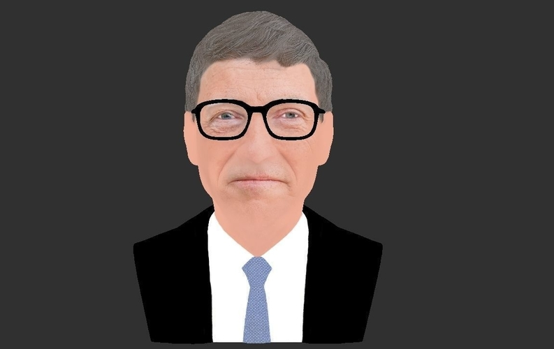 Bill Gates bust ready for full color 3D printing 3D Print 232097