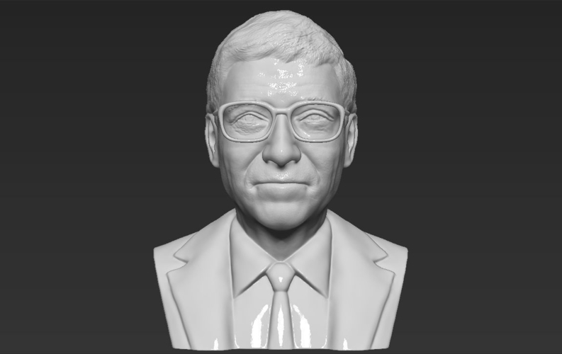Bill Gates bust ready for full color 3D printing 3D Print 232098