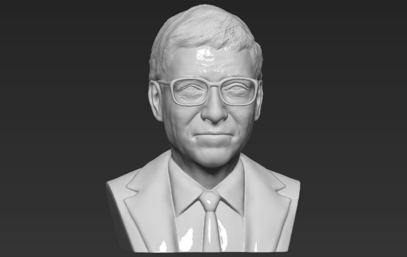 Bill Gates bust ready for full color 3D printing 3D Print 232103