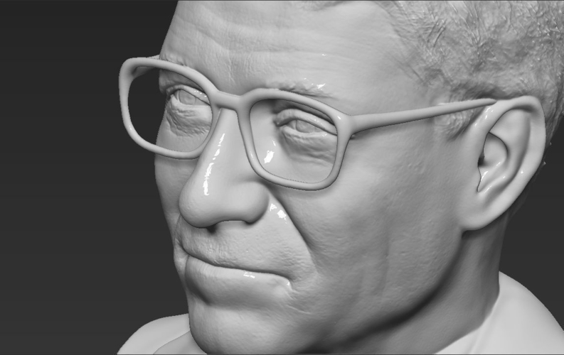 Bill Gates bust ready for full color 3D printing 3D Print 232105