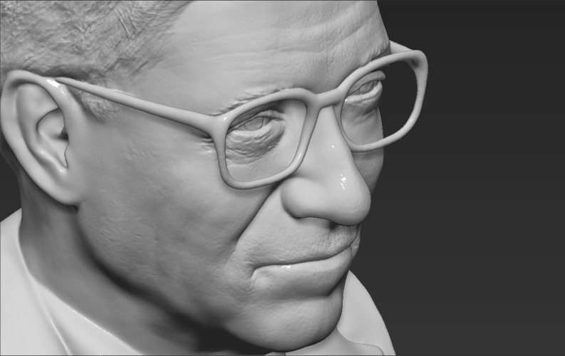 Bill Gates bust ready for full color 3D printing 3D Print 232106
