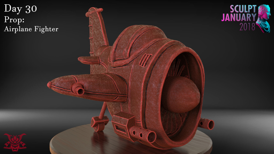 Stylized Fighter Airplane 3D Print 232200