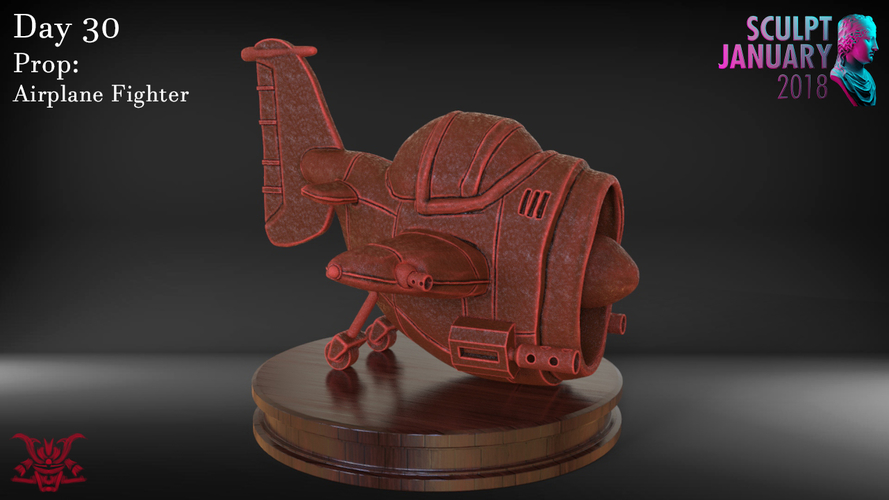 Stylized Fighter Airplane 3D Print 232206