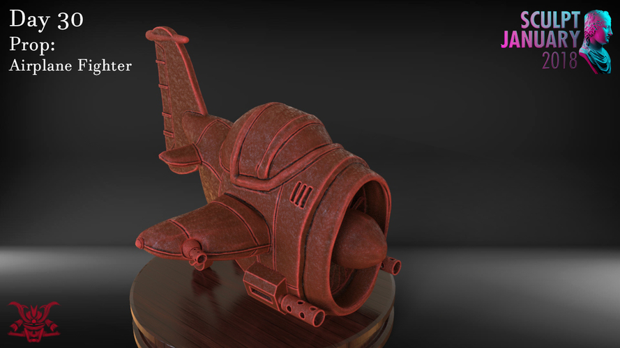 Stylized Fighter Airplane 3D Print 232207