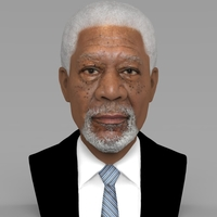 Small Morgan Freeman bust ready for full color 3D printing 3D Printing 232254
