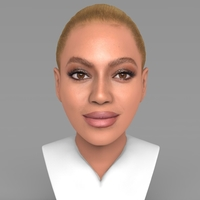 Small Beyonce Knowles bust ready for full color 3D printing 3D Printing 232296