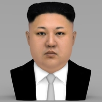 Small Kim Jong-un bust ready for full color 3D printing 3D Printing 232368