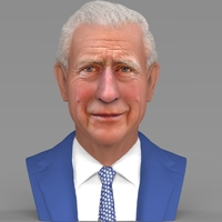 Small Prince Charles bust ready for full color 3D printing 3D Printing 232407