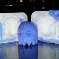 Small Pacman Ghost Mold 3D Printing 23250