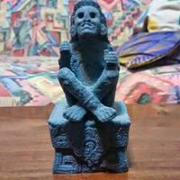 Small Xochipilli - Aztec god of ecstasy 3D Printing 23269