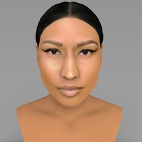 Small Nicki Minaj bust ready for full color 3D printing 3D Printing 232697