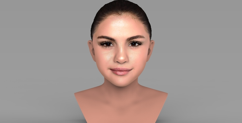 Selena Gomez bust ready for full color 3D printing 3D Print 232770