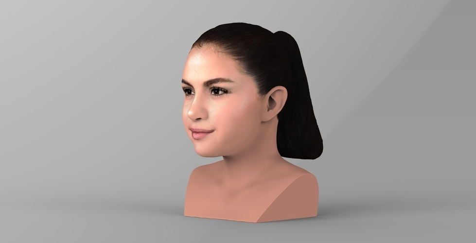 Selena Gomez bust ready for full color 3D printing 3D Print 232772