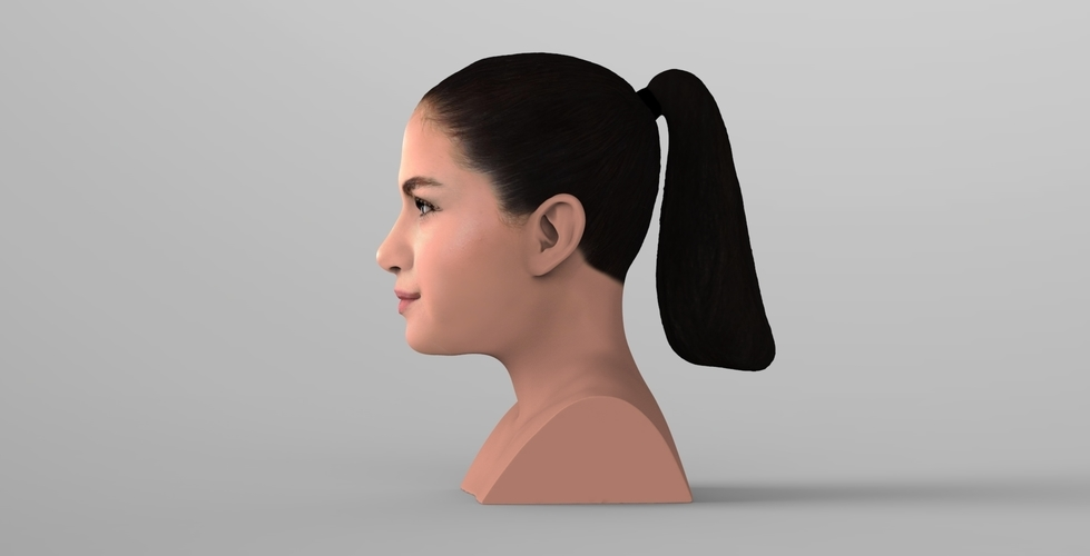 Selena Gomez bust ready for full color 3D printing 3D Print 232773