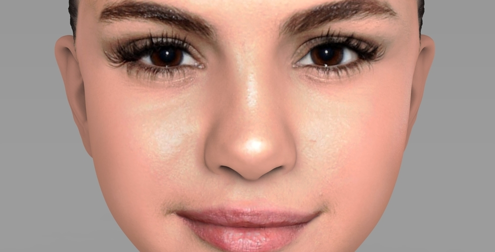 Selena Gomez bust ready for full color 3D printing 3D Print 232776