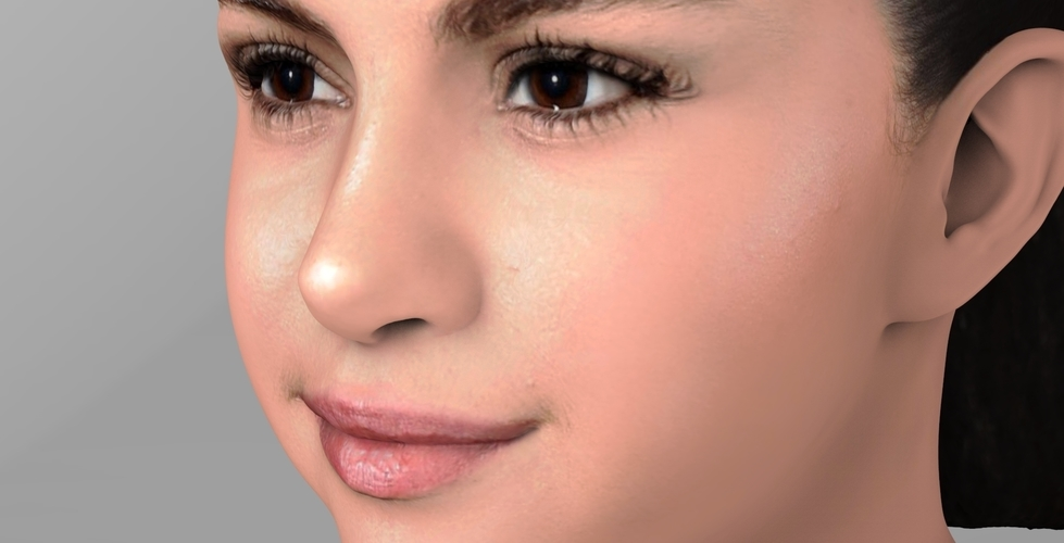 Selena Gomez bust ready for full color 3D printing 3D Print 232777