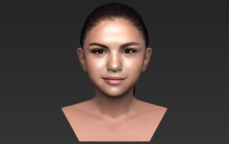 Selena Gomez bust ready for full color 3D printing 3D Print 232780