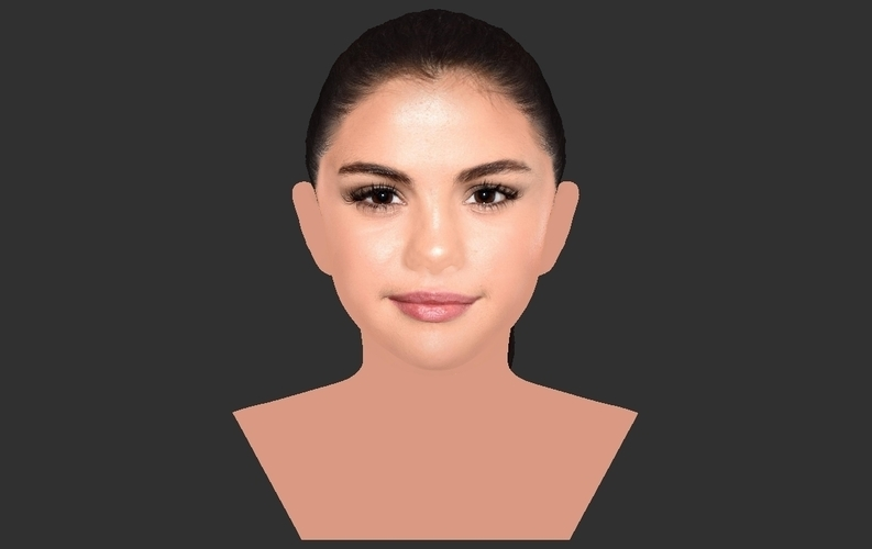 Selena Gomez bust ready for full color 3D printing 3D Print 232781