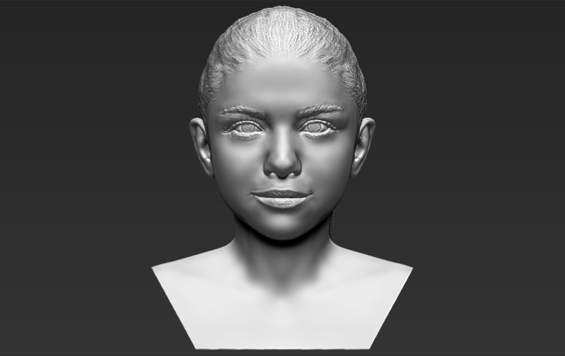 Selena Gomez bust ready for full color 3D printing 3D Print 232782