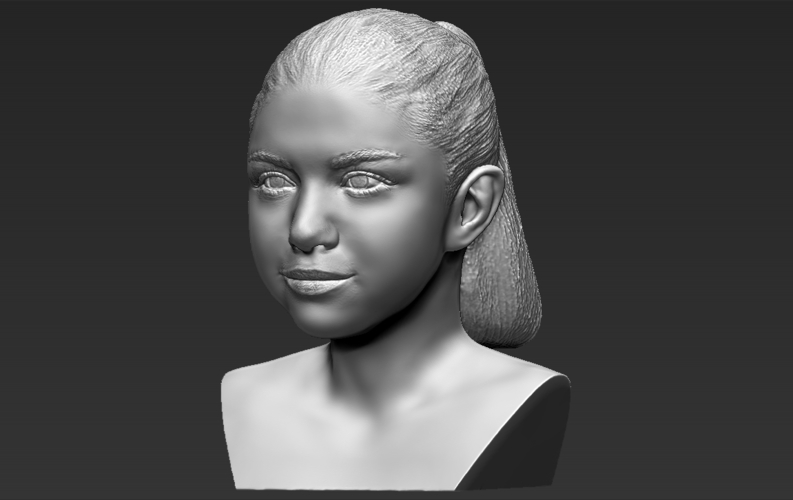 Selena Gomez bust ready for full color 3D printing 3D Print 232783