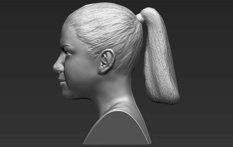 Selena Gomez bust ready for full color 3D printing 3D Print 232784