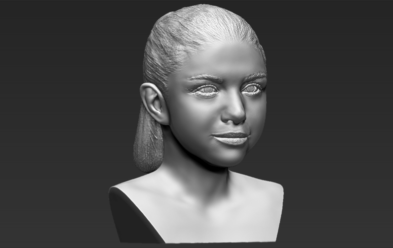 Selena Gomez bust ready for full color 3D printing 3D Print 232785