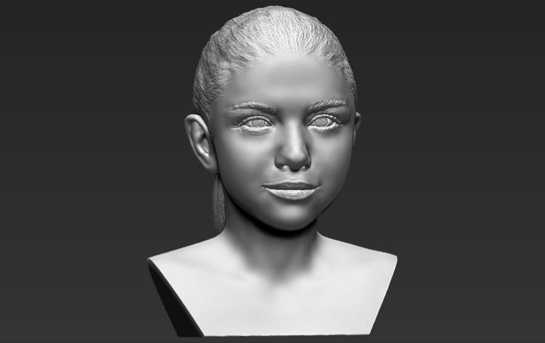 Selena Gomez bust ready for full color 3D printing 3D Print 232786