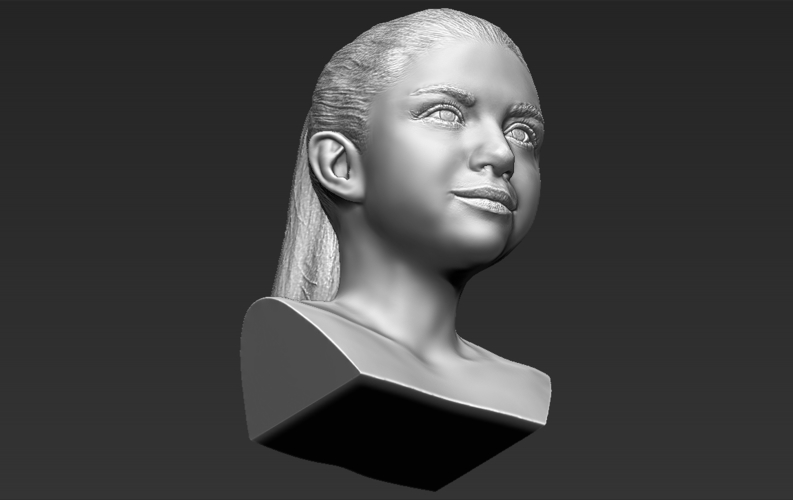 Selena Gomez bust ready for full color 3D printing 3D Print 232787