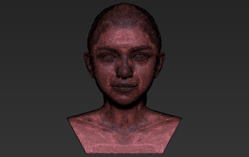 Selena Gomez bust ready for full color 3D printing 3D Print 232791