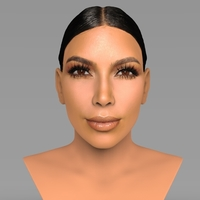 Small Kim Kardashian bust ready for full color 3D printing 3D Printing 232811