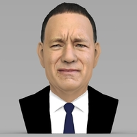 Small Tom Hanks bust ready for full color 3D printing 3D Printing 232849