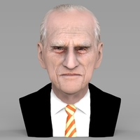 Small Prince Philip bust ready for full color 3D printing 3D Printing 232973