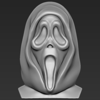 Small Ghostface from Scream bust 3D printing ready stl obj 3D Printing 233106