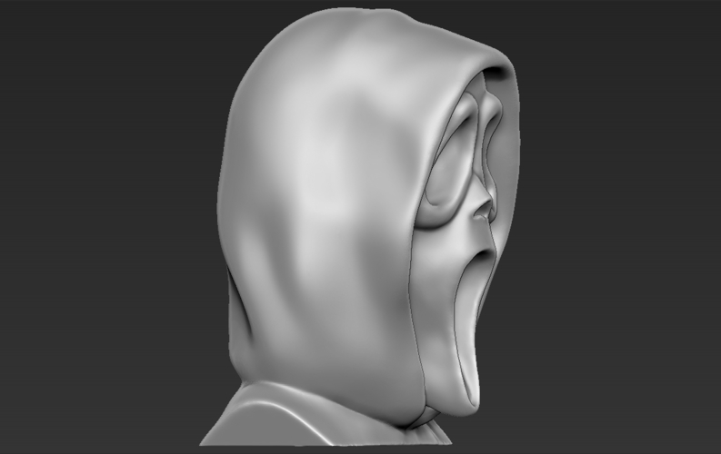 Ghostface from Scream bust 3D printing ready stl obj 3D Print 233112
